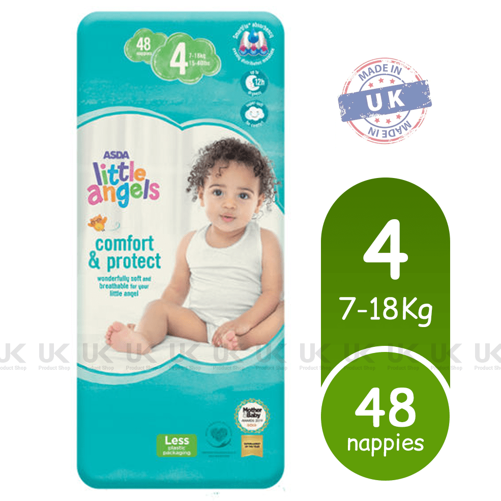 ASDA Little Angels Comfort & Protect Size 4 Nappies Pack of 48