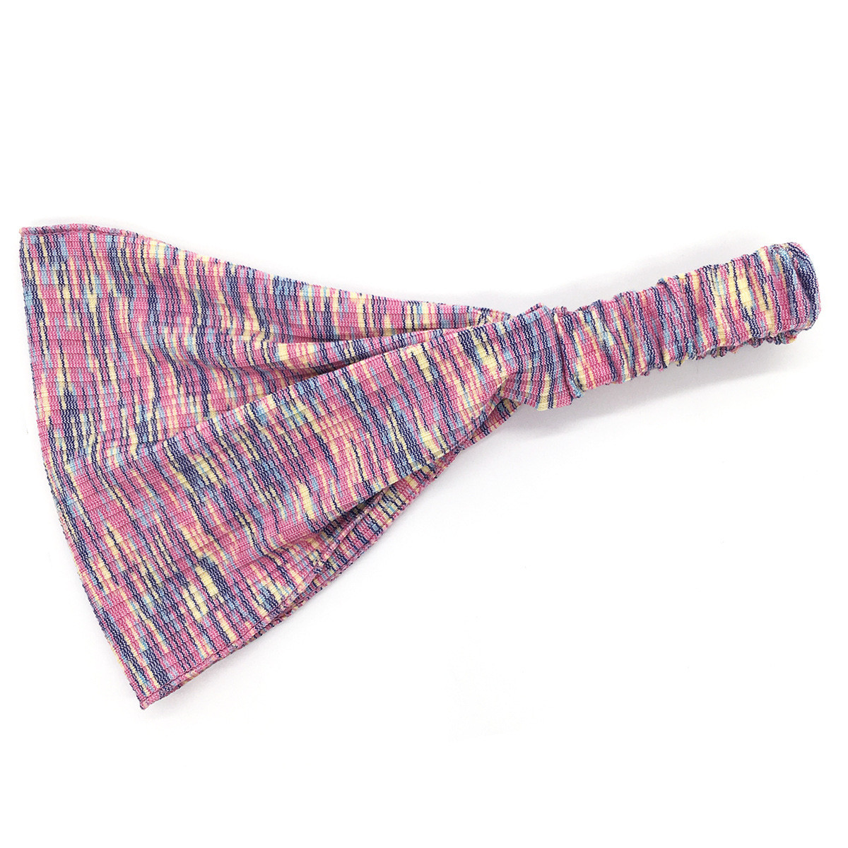 Multi-coloured bandanna headband