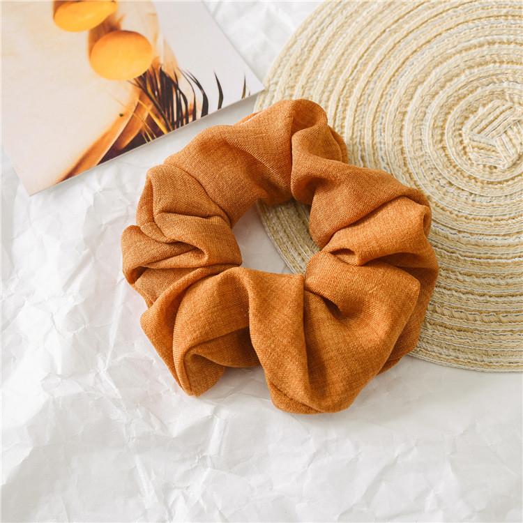 Lois fabric plain scrunchies