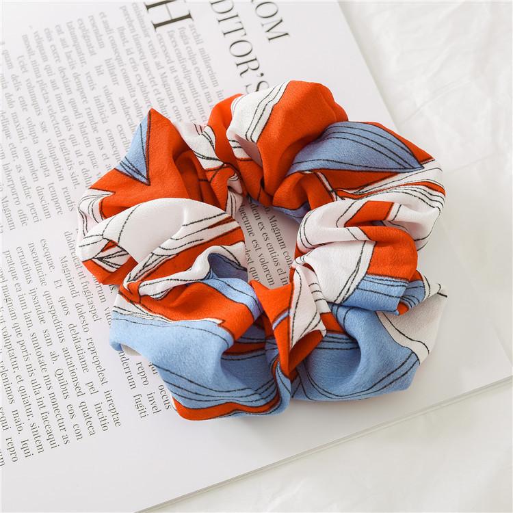 Multi-coloured chiffon scrunchies