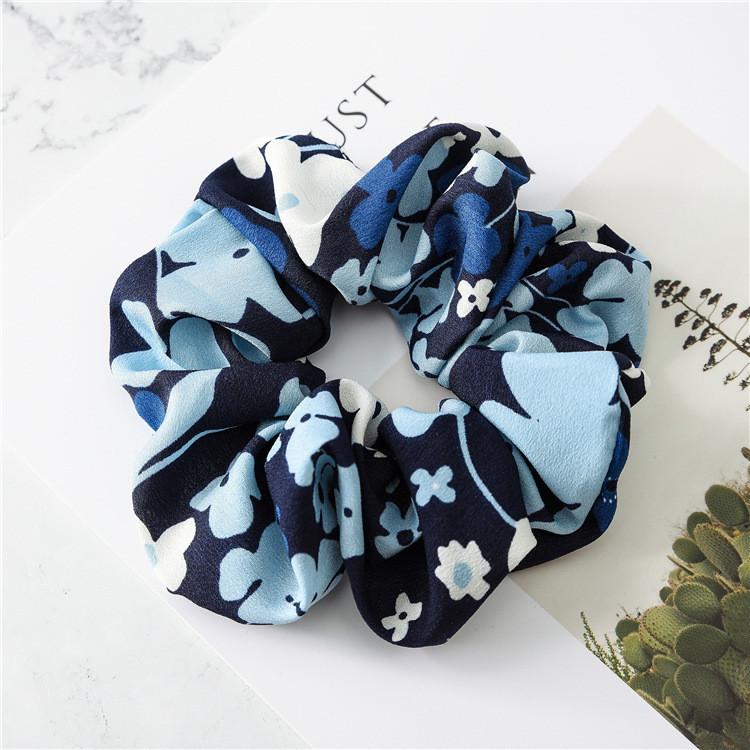 Mixed clover chiffon scrunchies
