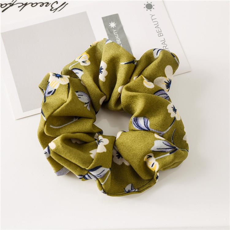 Flowers print chiffon scrunchies