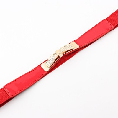 Gems bow stretch belt