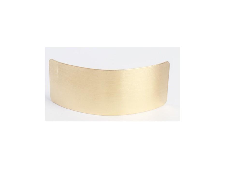 Arc rectangle barrette in matte metal
