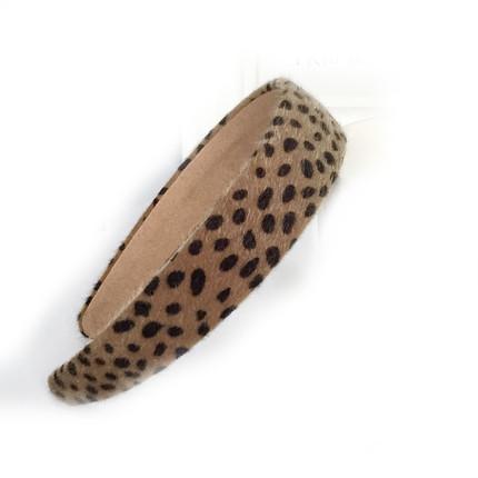 Fluffy leopard headband