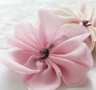Chiffon flower hair elastic