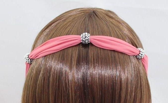 Chiffon-ribbon elastic headband