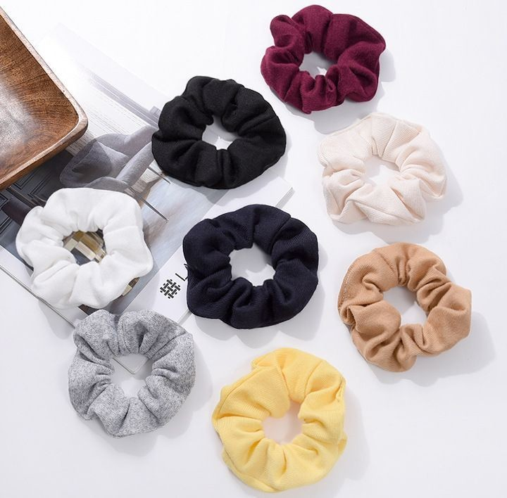 Soft knitted solid scrunchies - 25 , 50 pieces