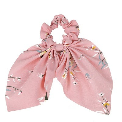 Floral chiffon scrunchies with tails