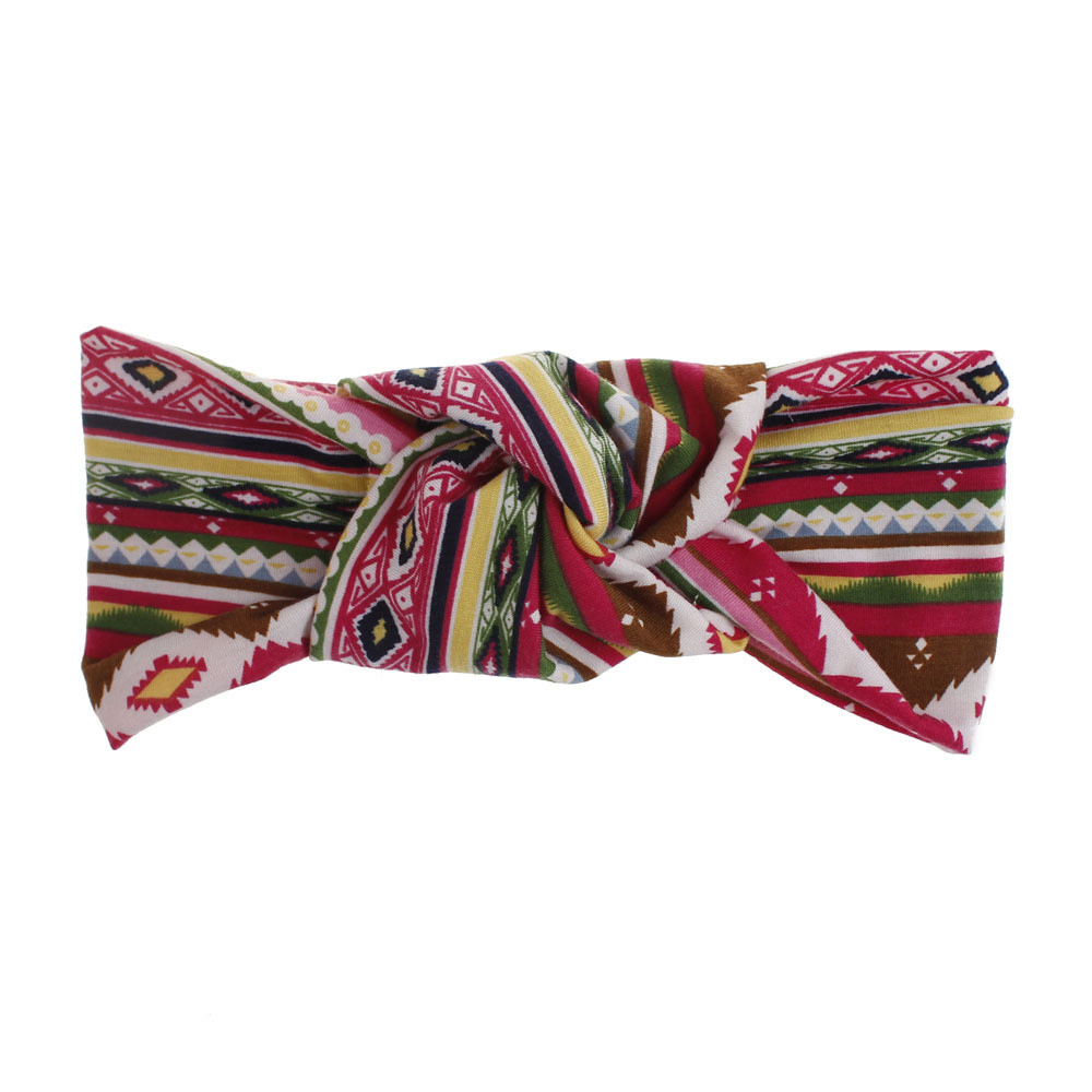 Bohemian large knot front stretch headband