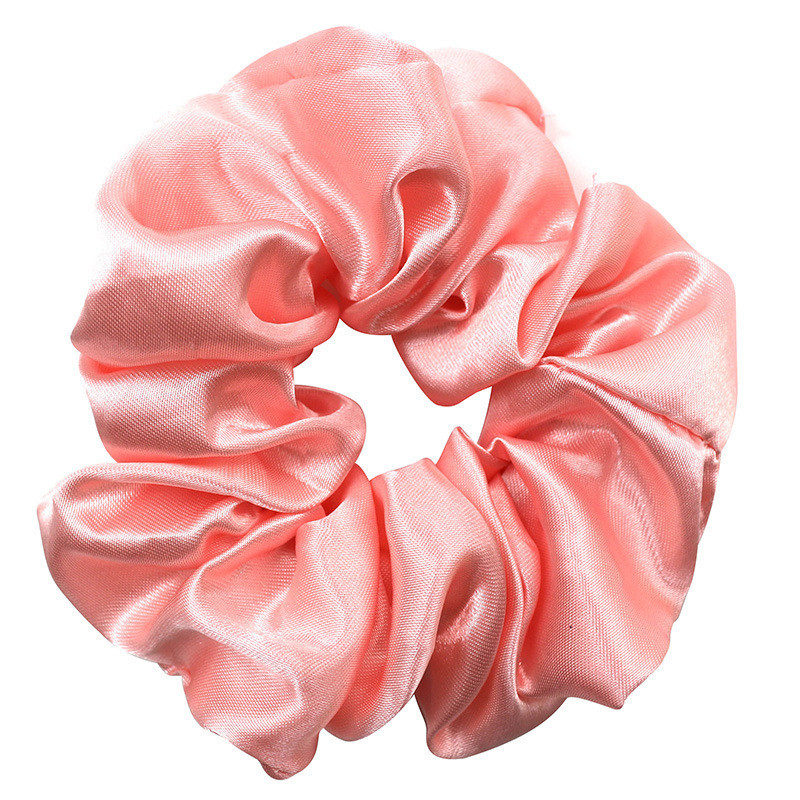 Glossy satin scrunchies