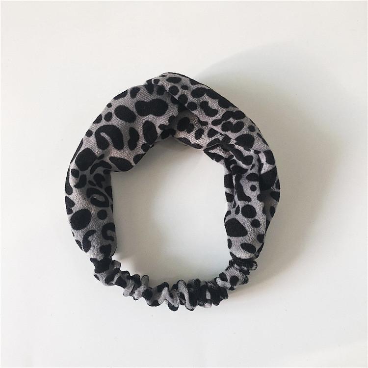 Coral velvet Leopard turban headband