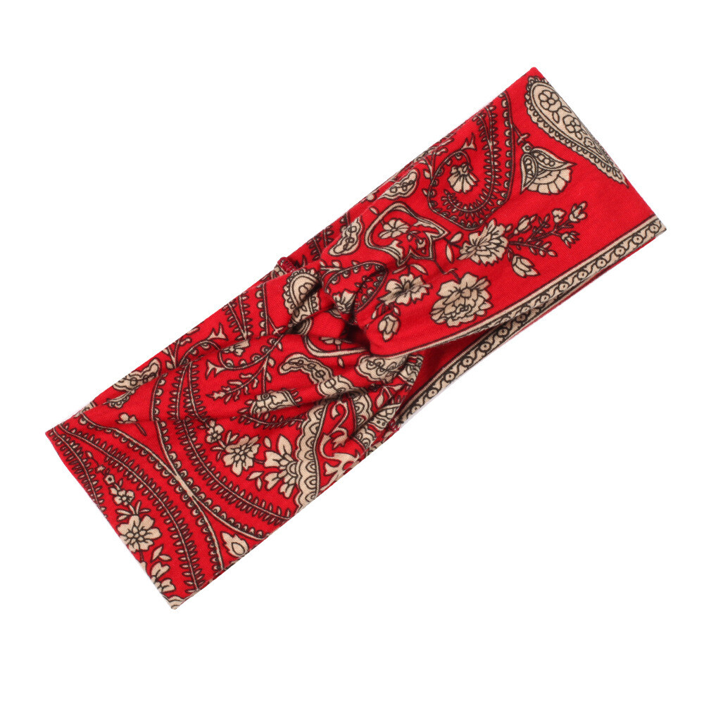 Bohemian style floral prints turban headband