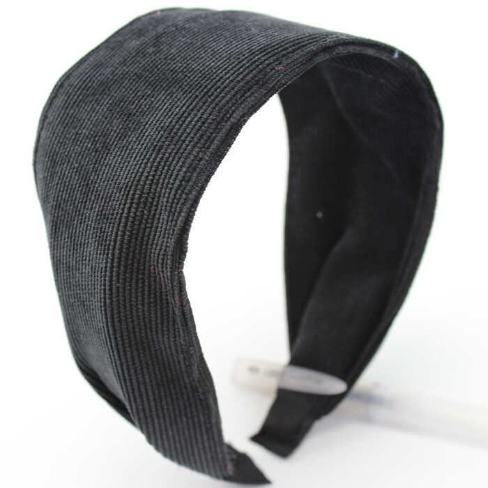 6.5cm-wide plain colour corduroy  headband