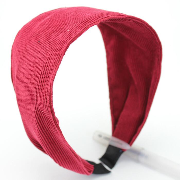 6cm-wide plain colour corduroy headband