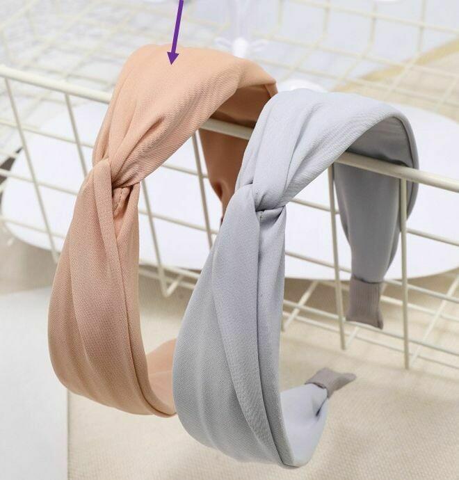 Twist front plain headband