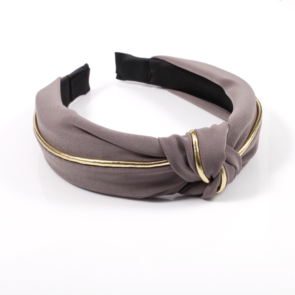 Golden edge knot headband