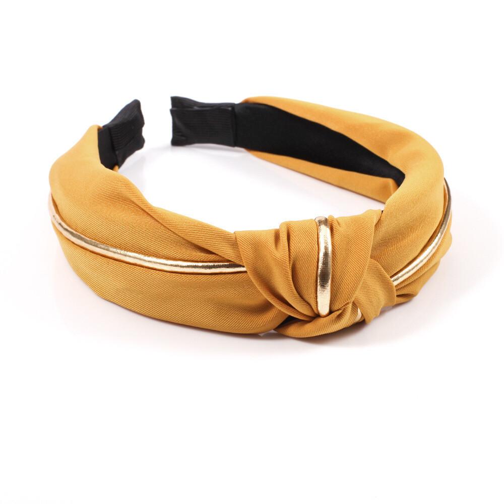 Golden edge knotted headband