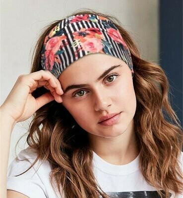 Printed velvet bandanna headband