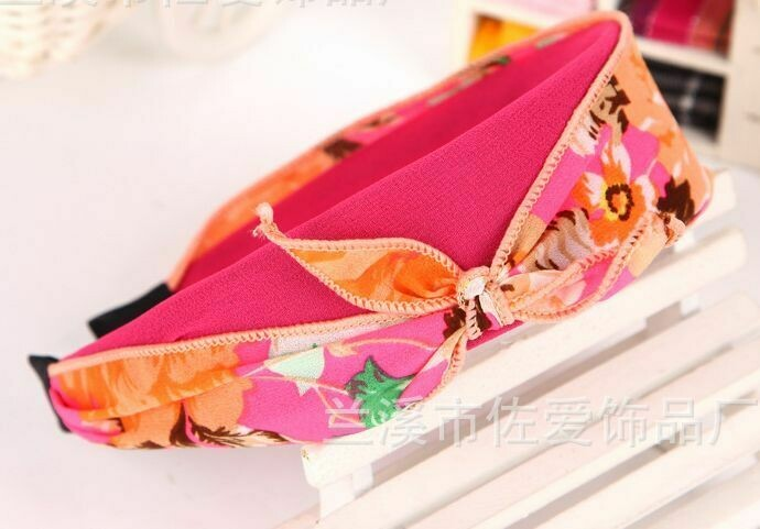 Flower chiffon bow-knot headband