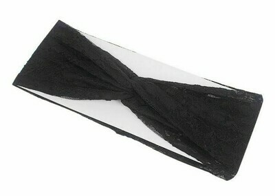 Lace turban headband