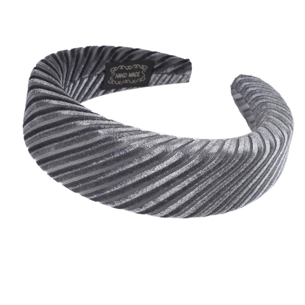 4cm-wide ribbed velvet padded headband