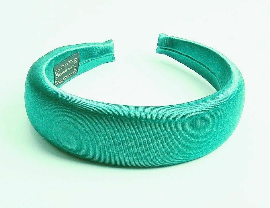 Glossy satin padded headband