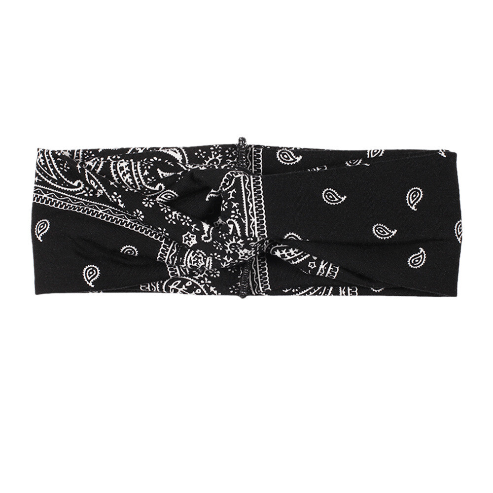 Amoeba pattern turban headband