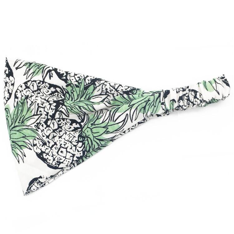 Printed bandanna headband - Pine apples