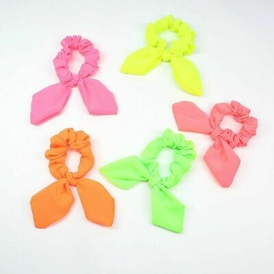 Neon scrunchies with twist bow