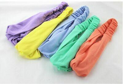 Twist front cotton fabric elastic turban headband