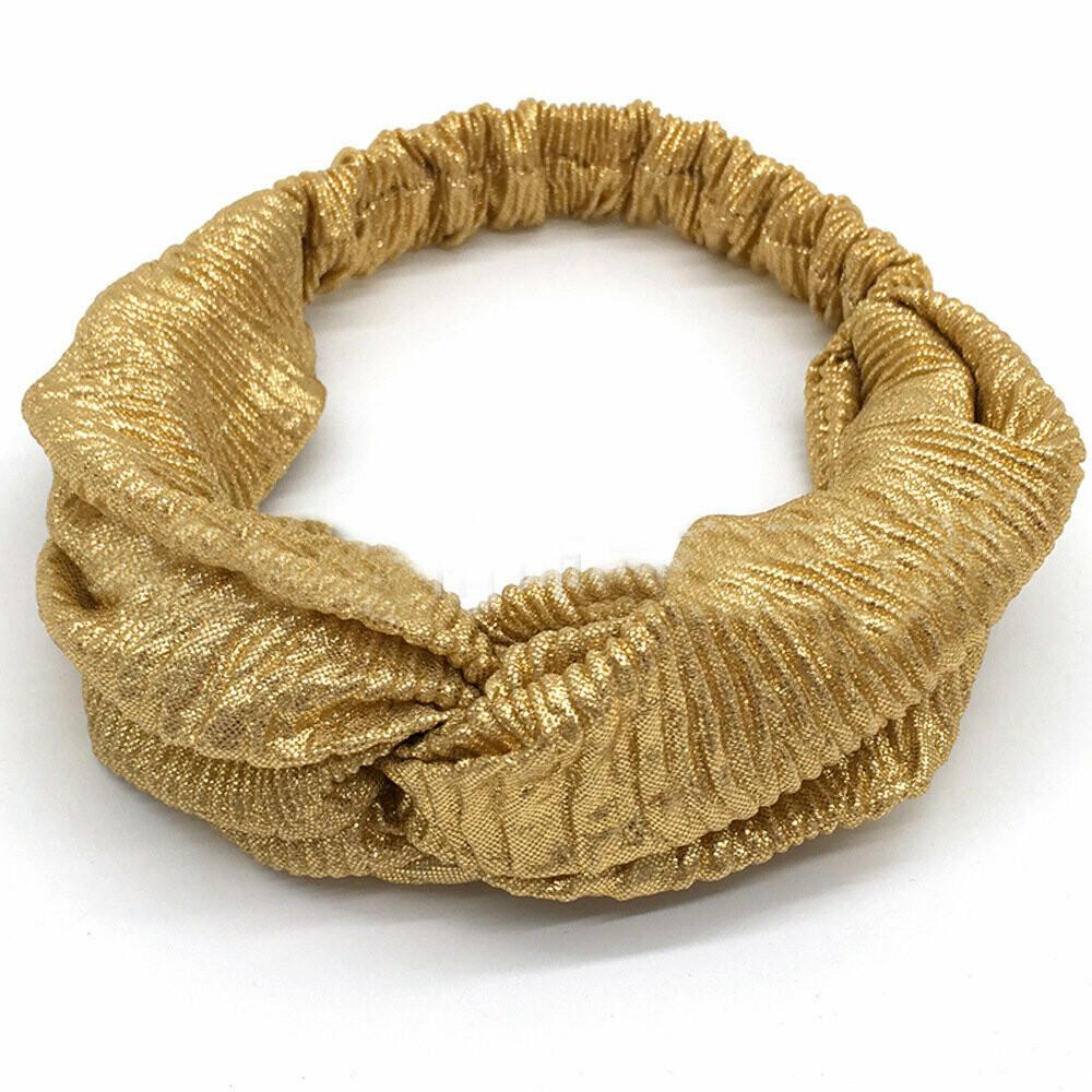Metallic turban headband