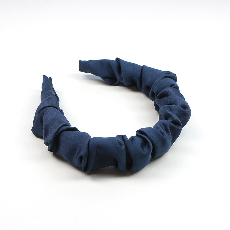 Matte satin ruched headband