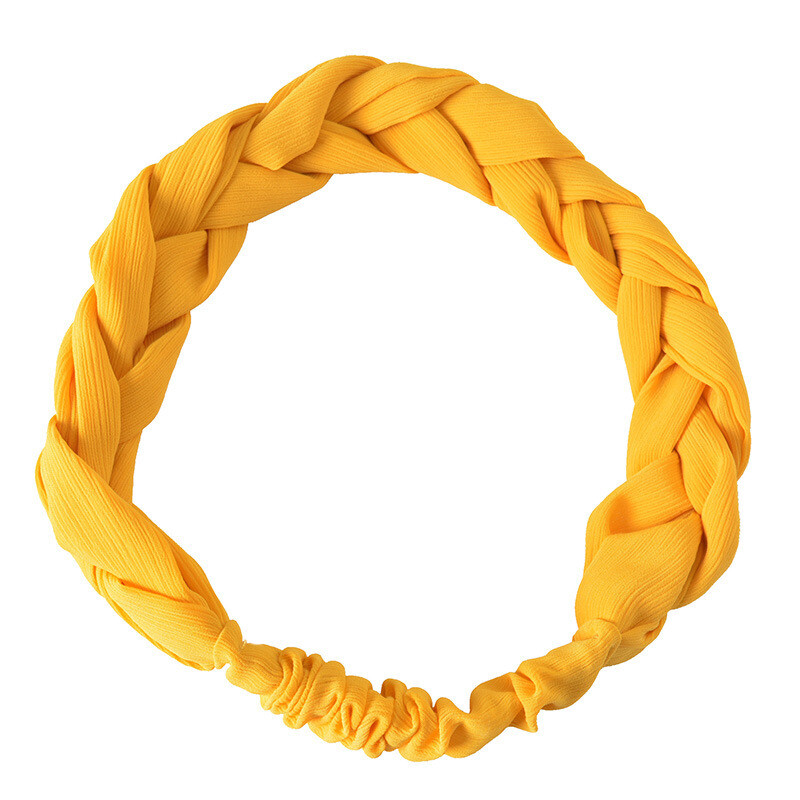 Chiffon braided elastic headband