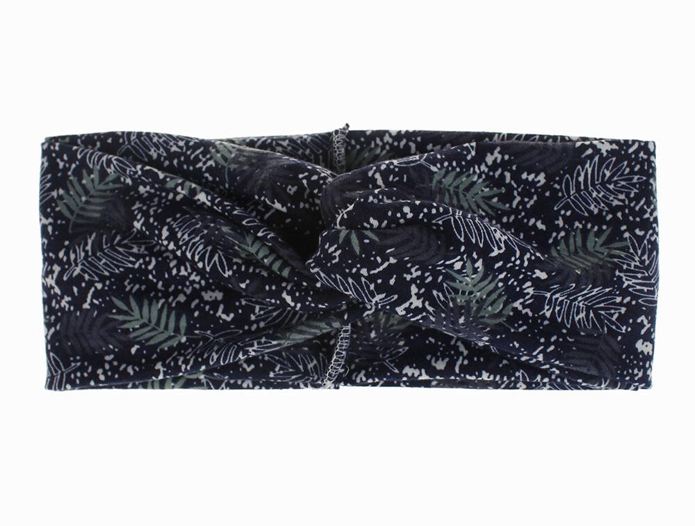 Snowy leaf branches printing turban headband
