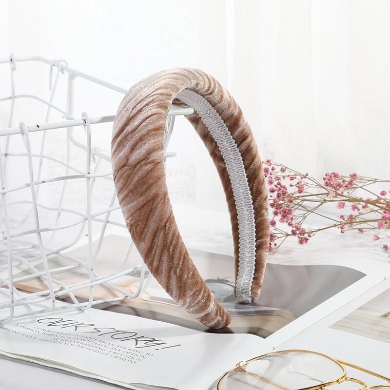 Crinkle velvet headband
