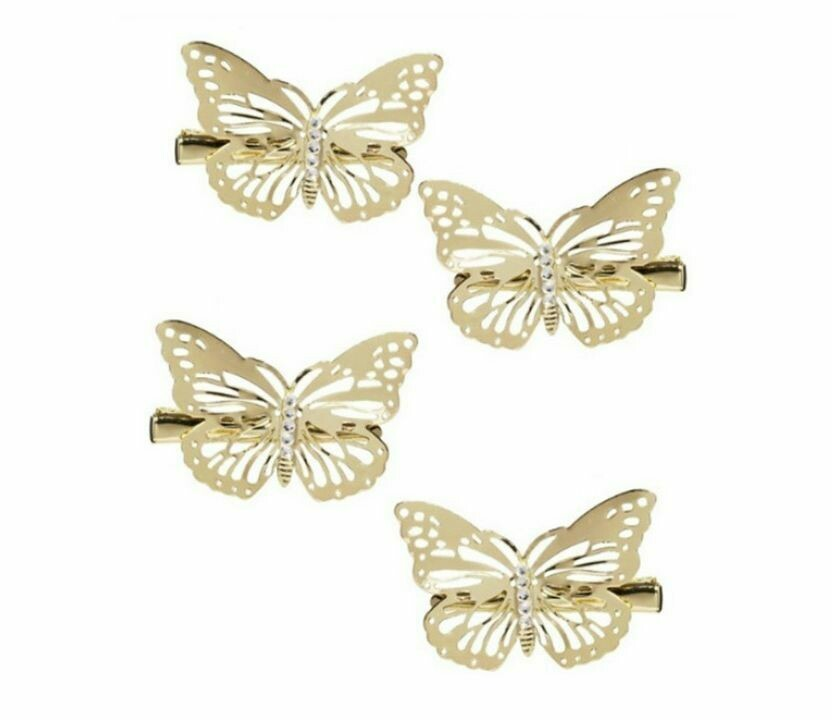 Small size butterfly hair clips - 4 pack