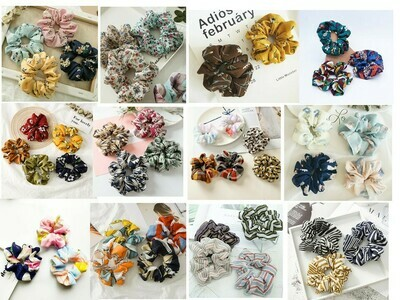Assorts scrunchies - 30, 50, 100 pieces