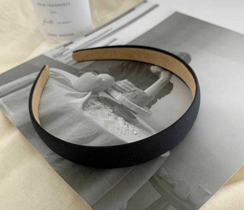 2cm-wide matte satin headband