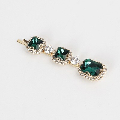 Bling bling emerald hair clip