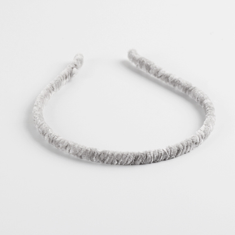 Chenille velvet slim headband
