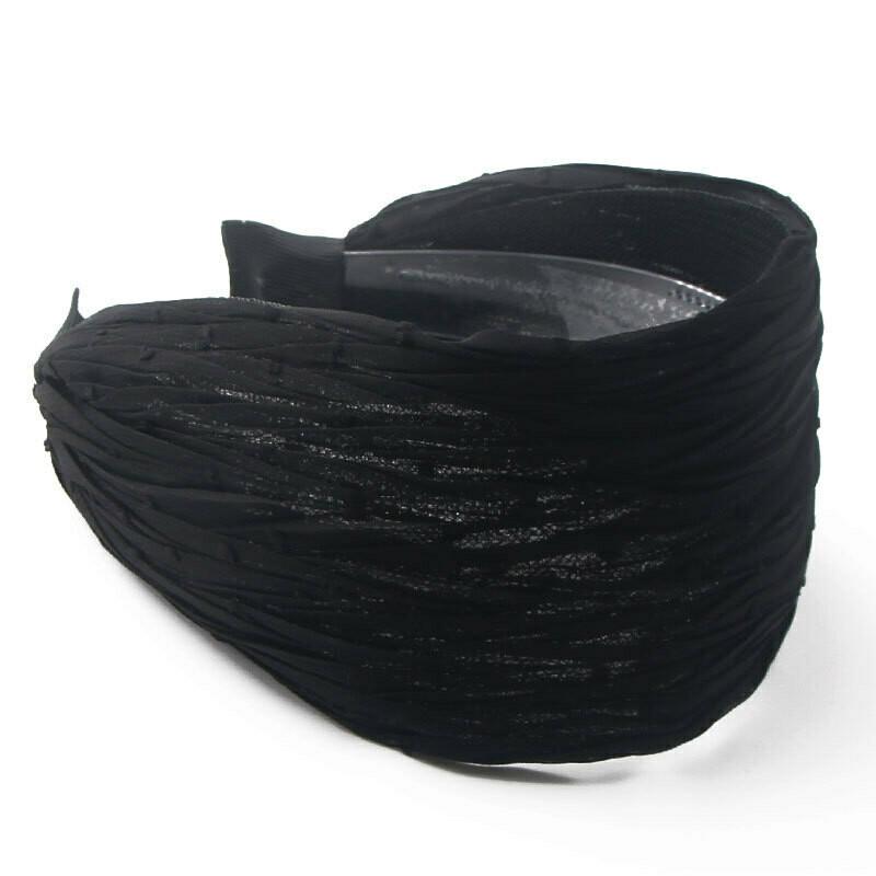 8cm wide plain colour soft studded chiffon headband