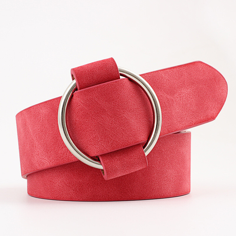 Simple ring buckle belt