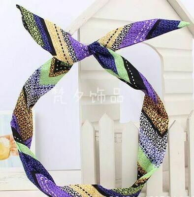Bohemian rainbow twist hair scarf