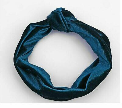Knot front velvet headband