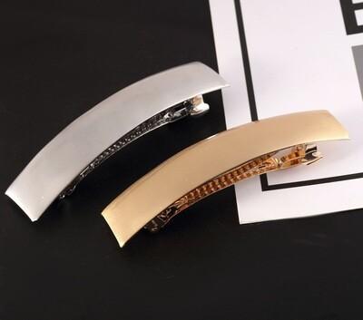 Rectangle barrette in matte metal