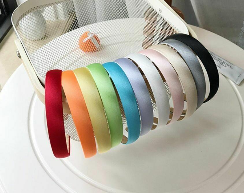 2cm-wide silky satin headband 10-50 pieces