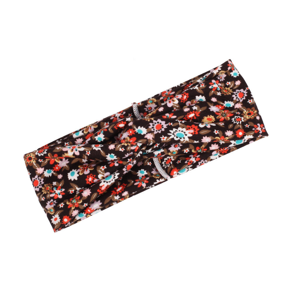 Little flowers print turban headband