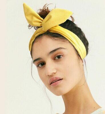 Soft corduroy twist hair scarf
