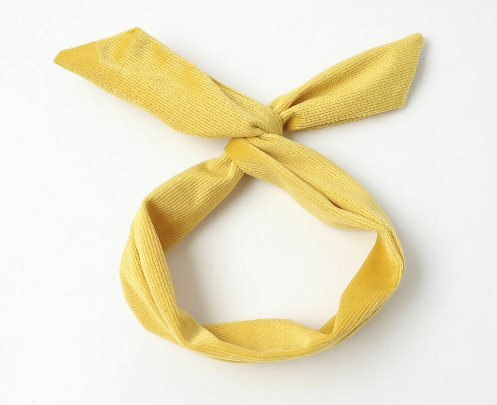 Soft corduroy twist hair scarf